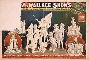 Bleistein v. Donaldson Lithographing Co. - Image: The Great Wallace Shows statues circus poster