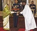 The High Commissioner-designate of Gambia, Mr. Dembo Badjie presented his Credentials to the President, Smt. Pratibha Devisingh Patil, at Rashtrapati Bhavan, in New Delhi on December 08, 2010.jpg