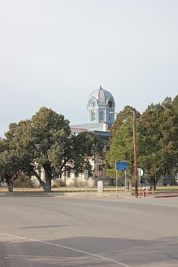 Jeff Davis County Courthouse, located in Fort Davis