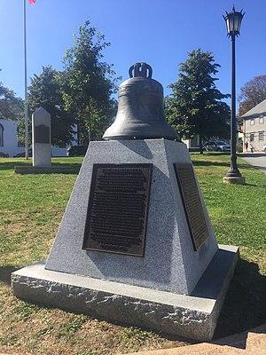 Lunenburg Campaign (1758) - D.C. Jessen led the militia - The Jessen Bell, St. John's Anglican Church (Lunenburg), Nova Scotia