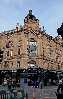 casino with live cabaret performances in the West End of London, Enland, a former theatre