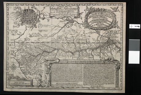 Samuel Fritz's 1707 map showing the Amazon and the Orinoco The Maranon or Amazon River with the Mission of the Society of Jesus WDL1137.png