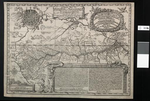 mapa del rio amazonas 1707
