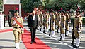 The Minister of State for Defence, Dr. Subhash Ramrao Bhamre inspecting the Guard of Honour, at Sainik School Kunjpura, Haryana on October 25, 2018.JPG