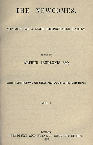 The Newcomes - First edition title page
