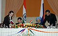 The President of Russia, Mr. Dmitry A. Medvedev and the Prime Minister, Dr. Manmohan Singh signing the Joint Declaration between the Russia and India, in New Delhi on December 05, 2008.jpg