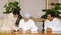 The Prime Minister, Dr Manmohan Singh signing the nomination papers of Smt. Pratibha Patil in the election process to the office of President of India, in New Delhi on June 19, 2007.jpg