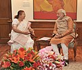The Speaker, Lok Sabha, Smt. Sumitra Mahajan calling on the Prime Minister, Shri Narendra Modi, in New Delhi on June 08, 2014.jpg