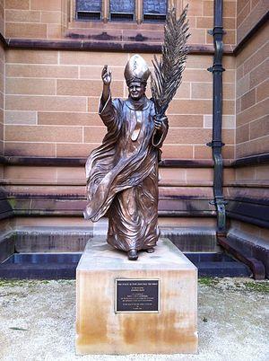 Beatification of Pope John Paul II - The Statue of Pope John Paul the Great in Sydney, Australia