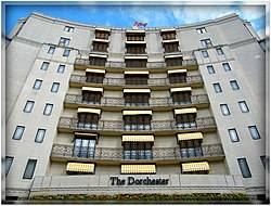 The beautiful Dorchester Hotel in London Mayfair, England United Kingdom. One of the most recognized and luxurious hotels on the planet. Enjoy! ) (4579941176).jpg