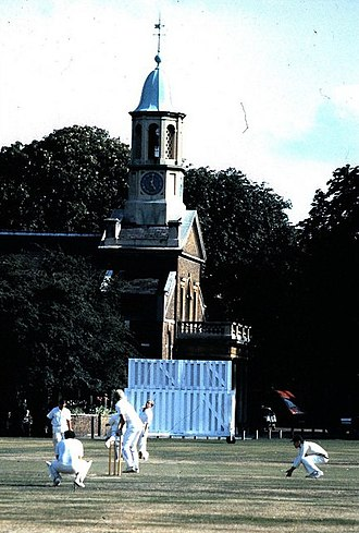 Kew Cricket Club - St Anne's Church is a backdrop to cricket matches on Kew Green