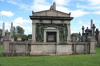 Alexander Allan (ship owner) - The grave of Alexander and Hugh Allan, shipbuilders, Glasgow Necropolis