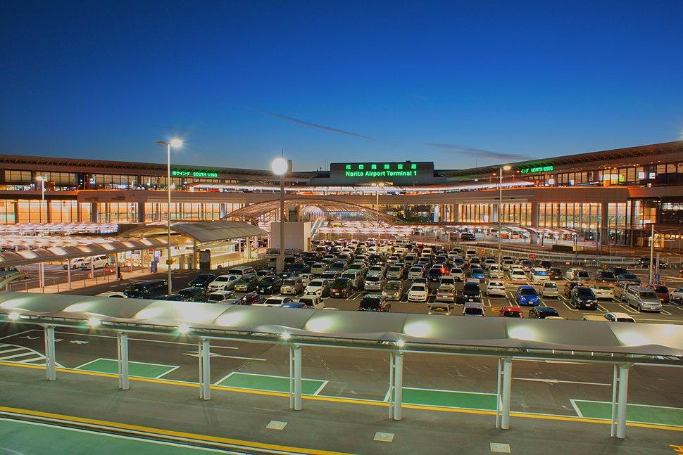 The night view of Tokyo Narita Airport Terminal 1