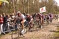 The peloton through Trouée d'Arenberg, Paris-Roubaix 2008.jpg