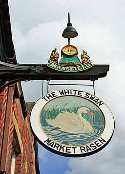 The sign of the White Swan, Market Rasen - geograph.org.uk - 1322476