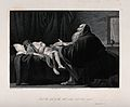 The widow's son, empty-eyed, returns to life at the prayer o Wellcome V0034319.jpg