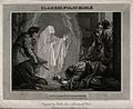 The witch of Endor conjures up the ghost of Samuel at the re Wellcome V0034313.jpg
