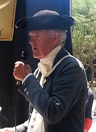 Thomas Polk - Reenactor Jim Williams portraying Thomas Polk at the 20 May 2014 Mecklenburg Declaration of Independence Commemoration at Founder's Square, Charlotte, North Carolina.