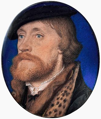 Thomas Wriothesley, 1st Earl of Southampton - Thomas Wriothesley, 1st Earl of Southampton, miniature by Hans Holbein the Younger