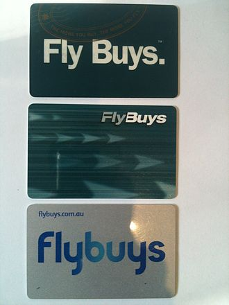 Flybuys (Australia) - The three generations of flybuys cards. Top: 1994-2003. Middle: 2003-2012. Bottom: 2012-Now