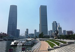 Tianjin IMG 4567 Hai River - Tianjin WFC Jin Tower - Tianjin Maoye Mansion.jpg