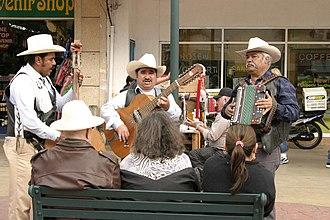Norteño (music) - A traditional Norteño ensemble: accordion, bajo sexto and tololoche.