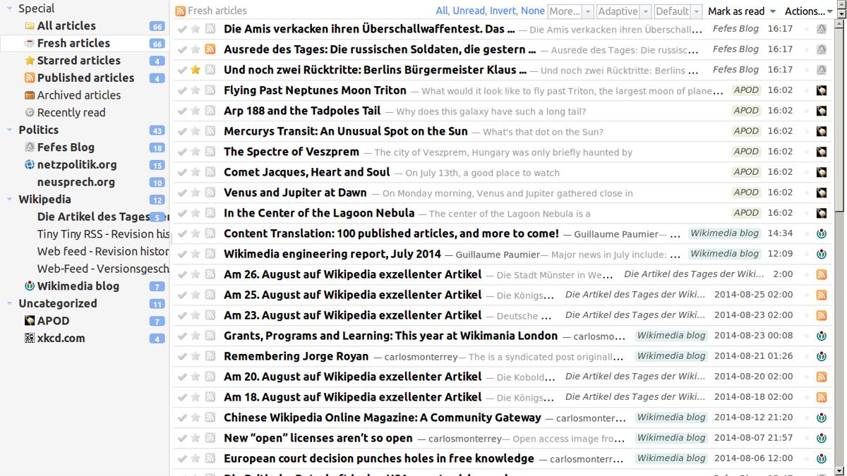 Tiny Rss English Interface News Aggregator Wikipedia