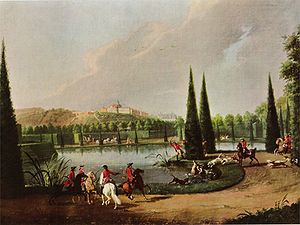 "Karlsaue - ""Hunting in the Karlsaue"" by Johann Heinrich Tischbein"