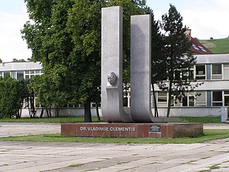 Vladimír Clementis - Monument in birth town of Tisovec
