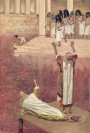 Plagues of Egypt - The First Plague: Water Is Changed into Blood, James Tissot