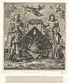 Titelprent voor- 'Maegde-wapen', onderdeel van J. Cats, Hovwelyck, 1625.jpeg
