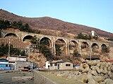 旧戸井線コンクリートアーチ橋
