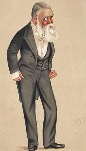 "Tom Taylor - Caricature of Taylor by ""Spy"" in magazine Vanity Fair, 1876."