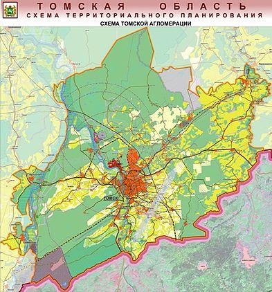 Карта Томской агломерации