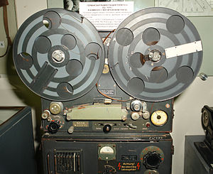 Reel-to-reel audio tape recording - Magnetophon from a German radio station in World War II.