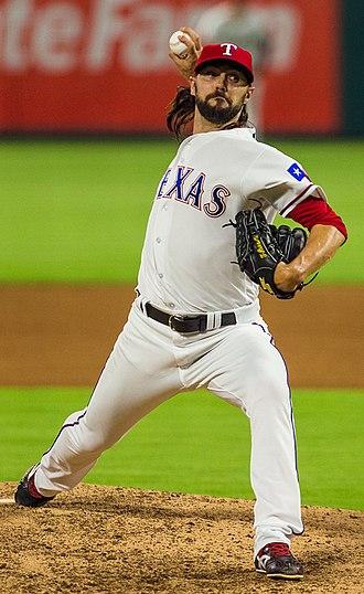 Tony Barnette - Barnette pitching for the Texas Rangers in 2016