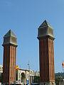 Torres d'accés al recinte de l'Exposició de 1929 (Barcelona) 2012-09-12 20-54-35.jpg