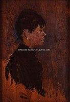 Toulouse-Lautrec - TETE DE FEMME DE PROFIL A DROITE, 1885, MTL.115.jpg