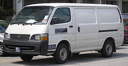 Toyota Hiace (fourth generation, first facelift) (front), Serdang.jpg