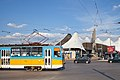 Tram in Sofia in front of Central Railway Station 2012 PD 010.jpg