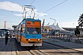 Tram in Sofia in front of Central Railway Station 2012 PD 093.jpg