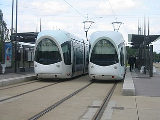 Tram stop - Tram stops can range from purpose-built, tram-exclusive infrastructure similar to train stations (example in Lyon), ...