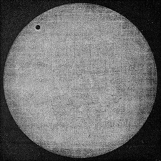 Transit of Venus, 1874 - The transit as seen from Japan by Pierre Janssen