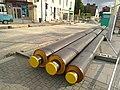 Travaux d'installation du chauffage urbain à Rennes sur la rue de Fougères.jpg