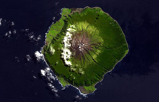 NASA Terra ASTER image of Tristan da Cunha Island, South Atlantic Ocean