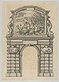 Triumphal arch, from 'Éloges et discours sur la triomphante réception du Roy en sa ville de Paris ...' by Jean-Baptiste de Machault MET DP855539.jpg