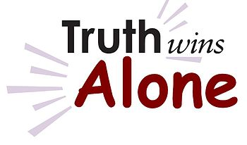 English: truth Alone Wins