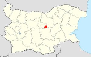 Tryavna Municipality - Image: Tryavna Municipality Within Bulgaria