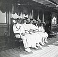 Tsar Nicholas II with his four daughters aboard the Imperial yacht Polar Star.jpg