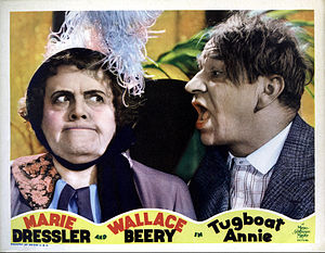 Tugboat Annie - Lobby card featuring Dressler and Beery